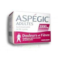 ASPEGIC ADULTES 1000 mg, poudre pour solution buvable en sachet-dose 20 à STRASBOURG