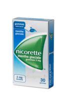 NICORETTE 2 mg Gom à mâcher médic sans sucre menthe glaciale Plq/30gom à STRASBOURG