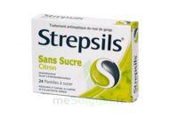 STREPSILS CITRON SANS SUCRE, pastille édulcorée à l'isomalt, au maltitol et à la saccharine sodique à STRASBOURG