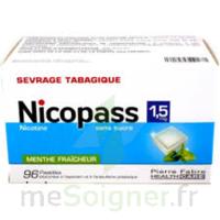 Nicopass 1,5 mg Pastille sans sucre menthe fraîcheur Plq/96 à STRASBOURG