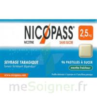 Nicopass 2,5 mg Pastille menthe fraîcheur sans sucre Plq/36 à STRASBOURG