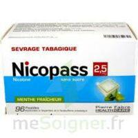 Nicopass 2,5 mg Pastille menthe fraîcheur sans sucre Plq/96 à STRASBOURG