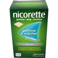 NICORETTE 2 mg Gom à mâcher médic sans sucre menthe fraîche Plq/105gom à STRASBOURG