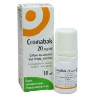 CROMABAK 20 mg/ml, collyre en solution à STRASBOURG