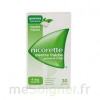 NICORETTE 4 mg Gom à mâcher médic sans sucre menthe fraîche Plq/30gom à STRASBOURG