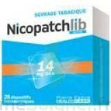 NICOPATCHLIB 14 mg/24 h Dispositifs transdermiques B/28 à STRASBOURG